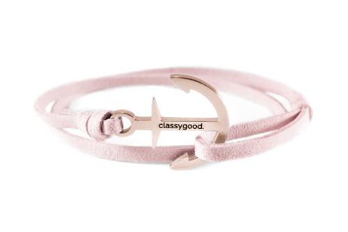 Anker Armband rosa Roségold