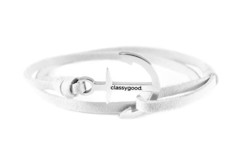 Anker Armband weiß classygood.
