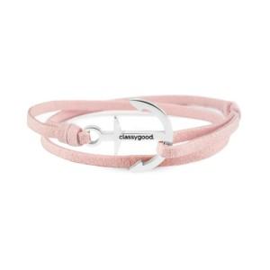 anker armband rosa silber