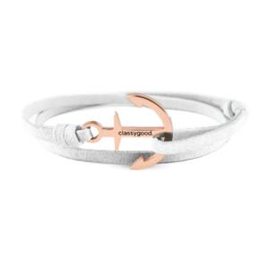 anker armband rosegold weiß