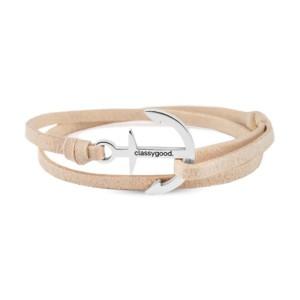 anker armband beige silber