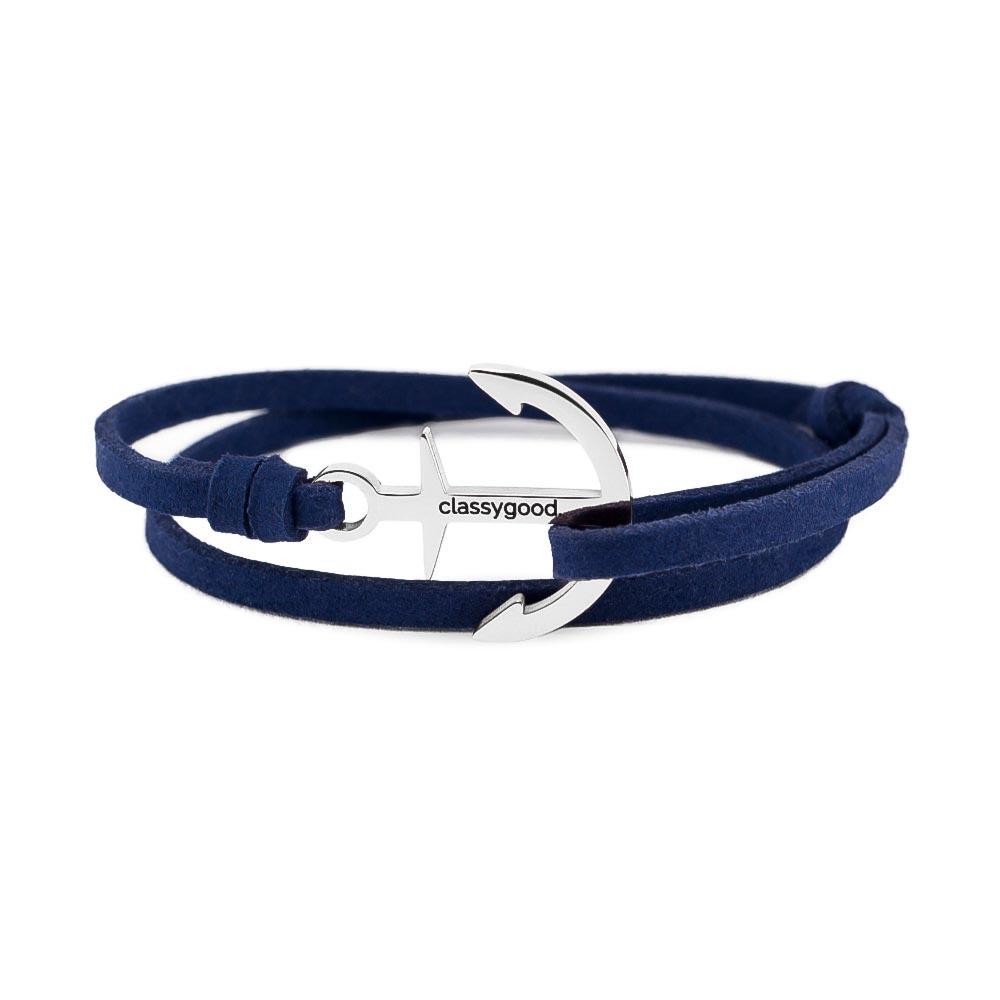 anker armband blau silber