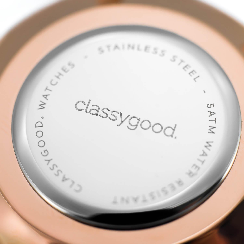 classygood Uhr rosegold Rückseite
