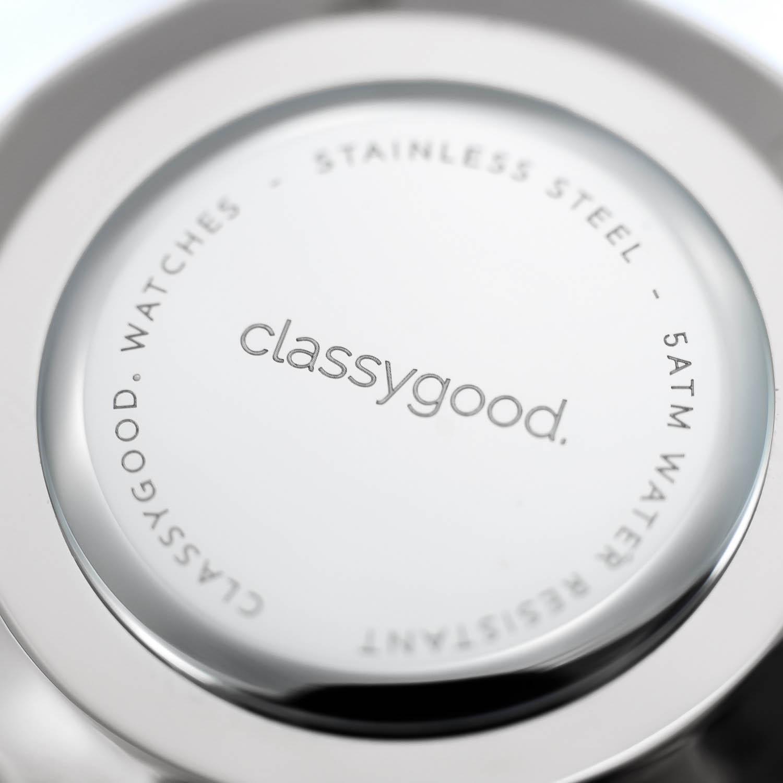 classygood Uhr silber Rückseite