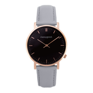 classygood Uhr rosegold schwarz grau