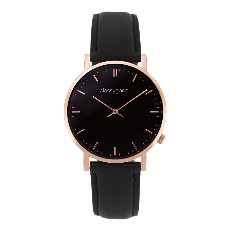 classygood Uhr rosegold schwarz schwarz