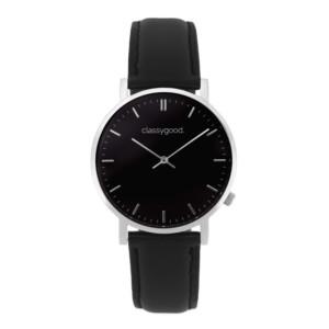 classygood Uhr silber schwarz schwarz