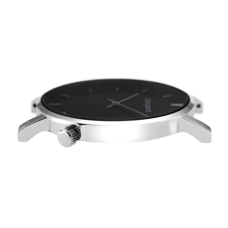 classygood Uhr silber schwarz