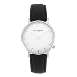 classygood Uhr silber weiß schwarz